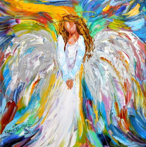 Christmas Angel Paintings On Canvas