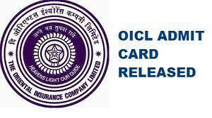 OICL AO 2017 Prelims Admit Card