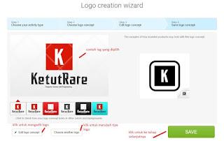 tampilan save logo concept