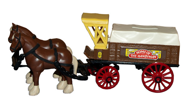 This draft horse and wagon is number 10 in Home Hardware's collectibe banks.