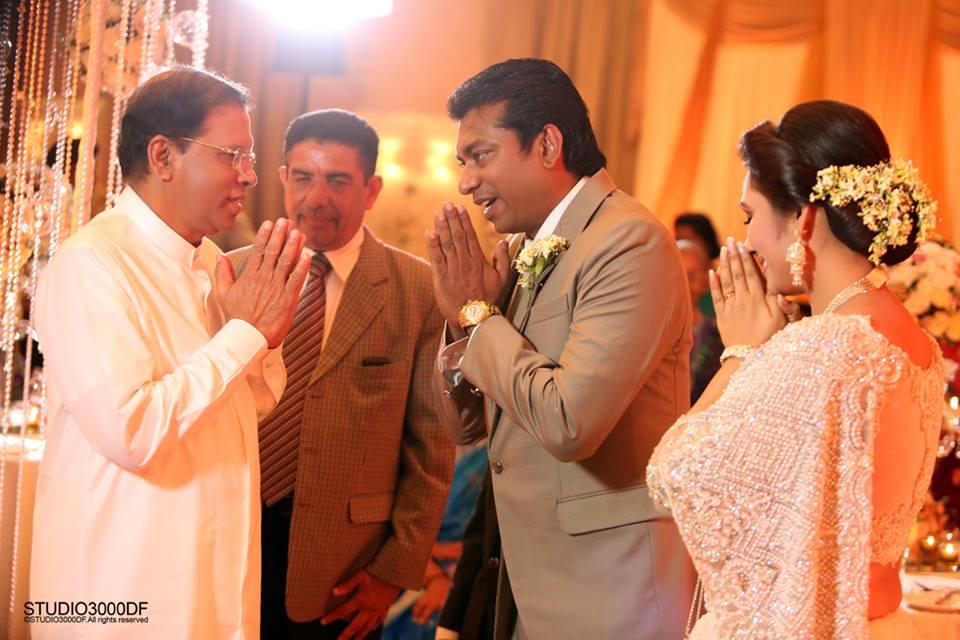 upeksha swarnamali wedding president maithripala sirisena