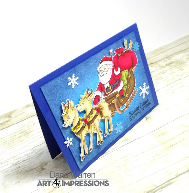 Dana Warren - Kraft Paper Stamps - Art Impressions - Christmas