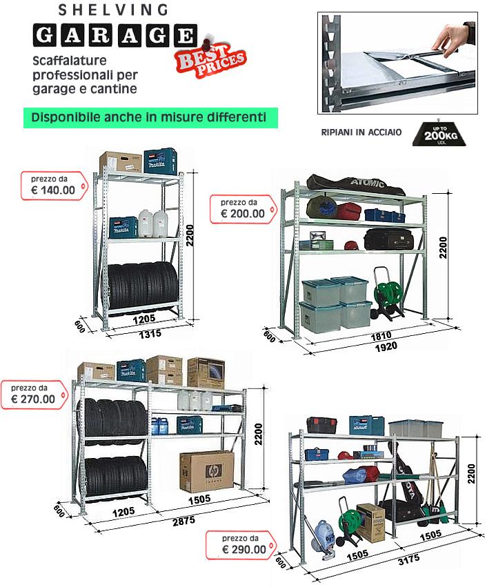 Tuttoscaffali it scaffalature industriali arredi for Garage per 2 auto personalizzate