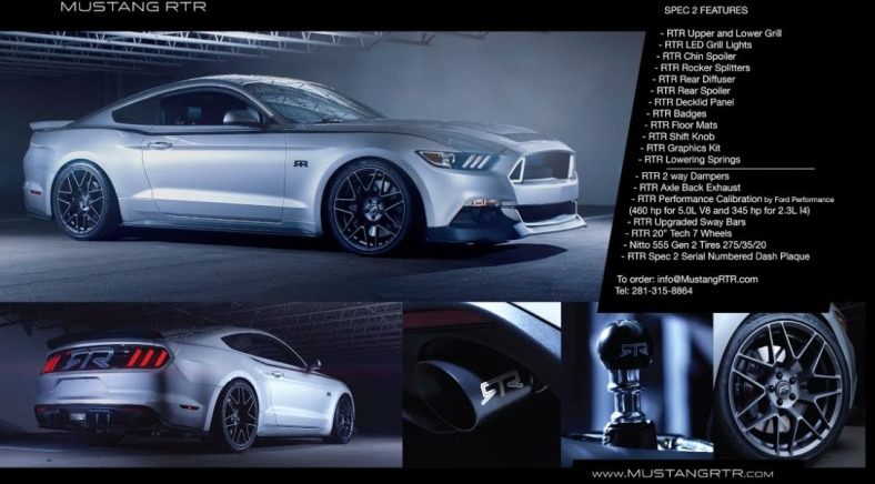 Mustang RTR Specs