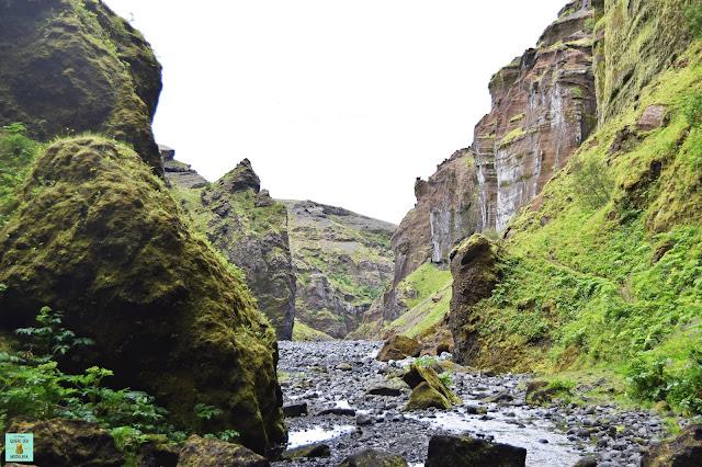 Stakkholtsgja Canyon en Thórsmörk, Islandia