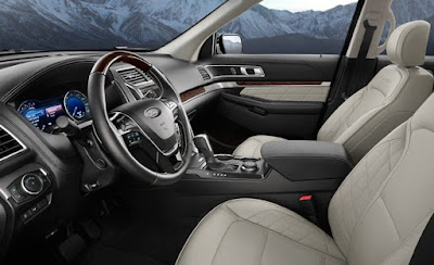 Ford Explorer Interior: front seats and rear seats