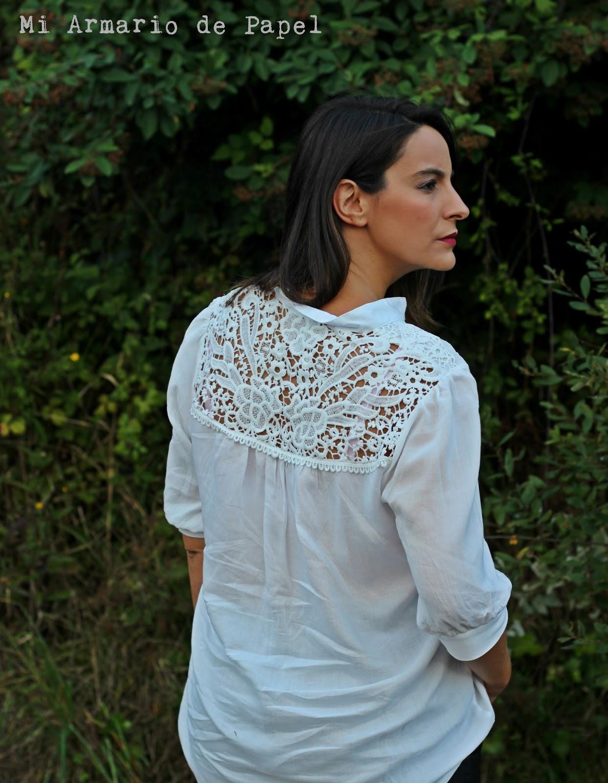 d4368b31f Outfit: Combinando una Blusa con Encaje - Mi Armario de Papel