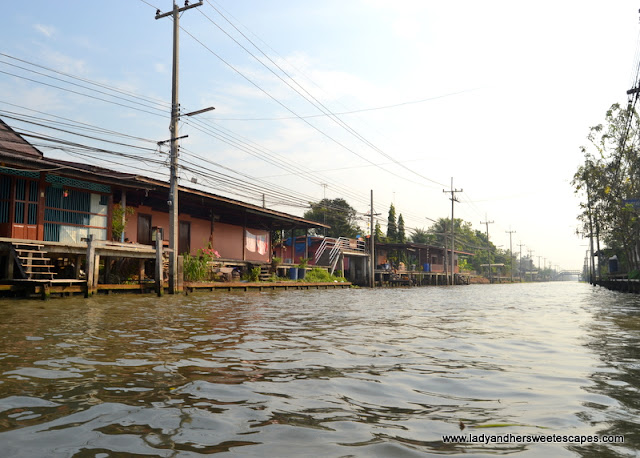 local community near Thailand floating market
