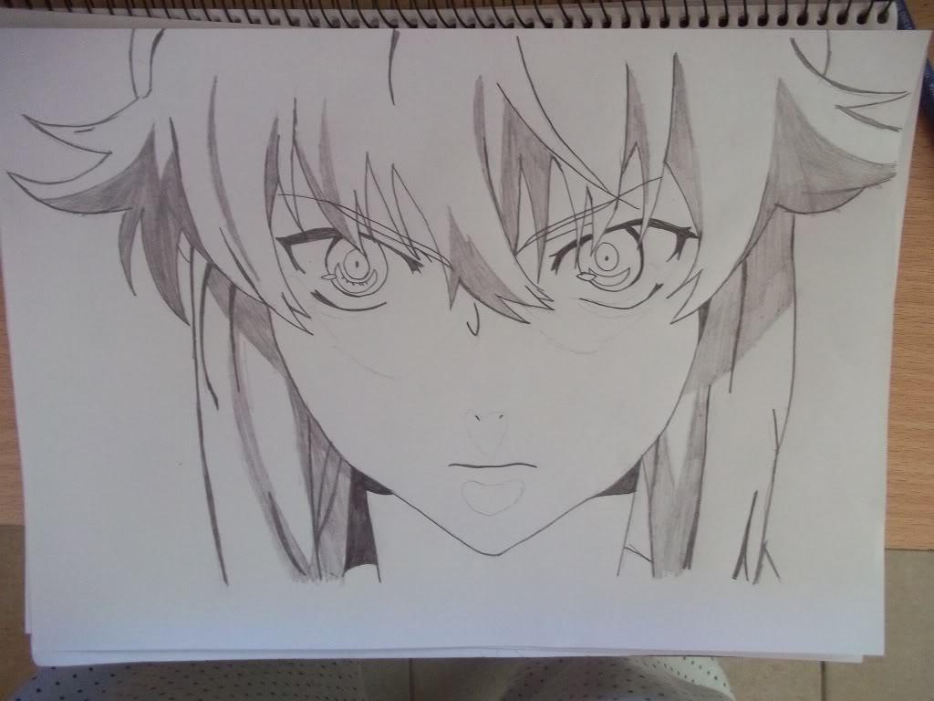 Como Dibujar A Yuno Gasai