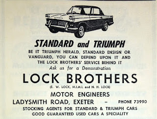 Lock Bros advert 1961