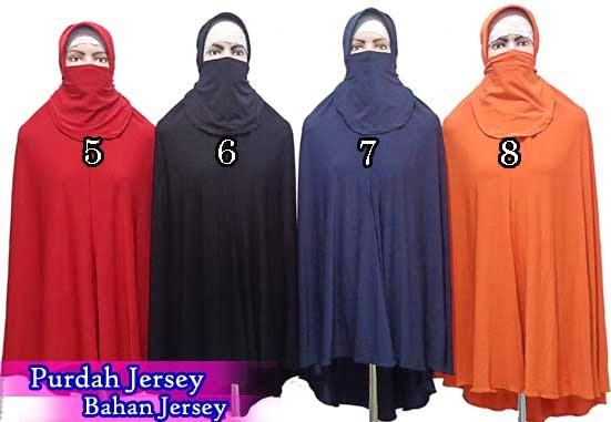 Jilbab cadar purdah jumbo jersey