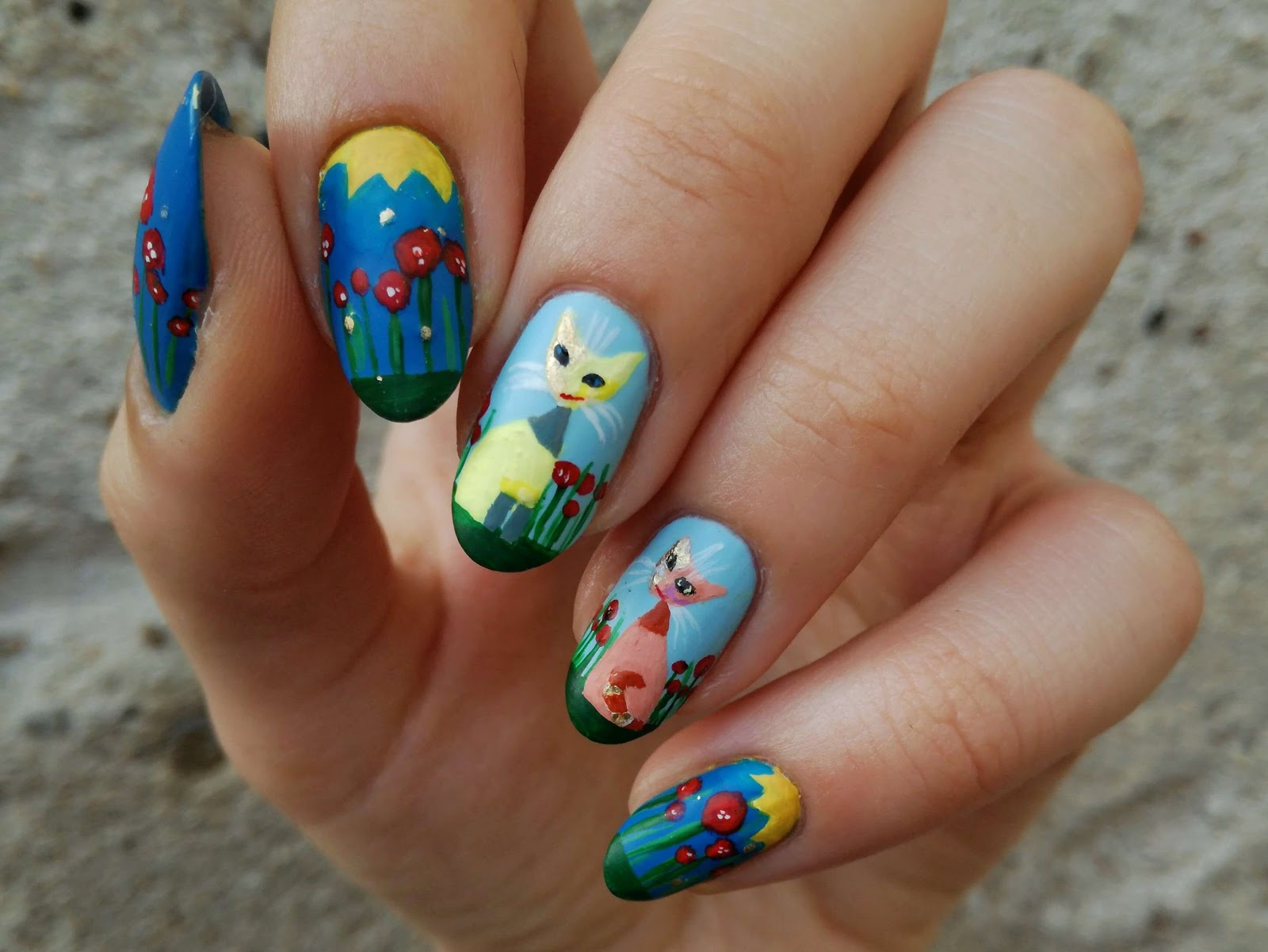 ręcznie malowane farbkami