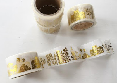 Landmarks Goldfoil Washi Tape