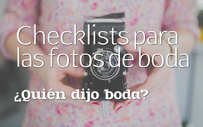 Checklists para fotos de boda