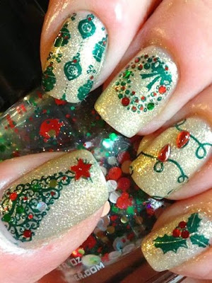 classy-and-stylish-christmas-nail-art-designs-for-girls-19
