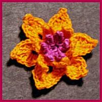 Orquídea a crochet