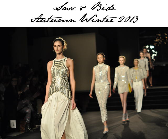 Sass Bide Bring Silver To The Forefront For Autumn Winter 2013 Fashion Foie Gras