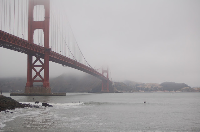 Surfing Under Golden Gate Bridge