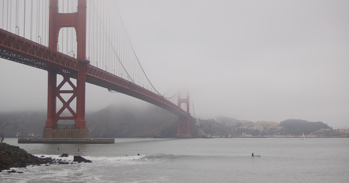 Surfing Under the Golden Gate Bridge  Pic of the Week