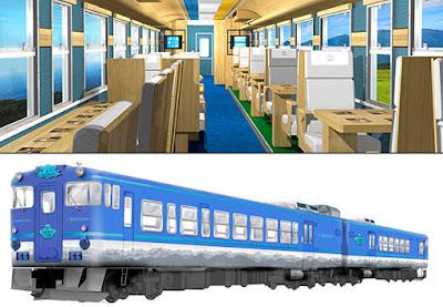 Formado por dois vagões que podem acomodar até 59 passageiros