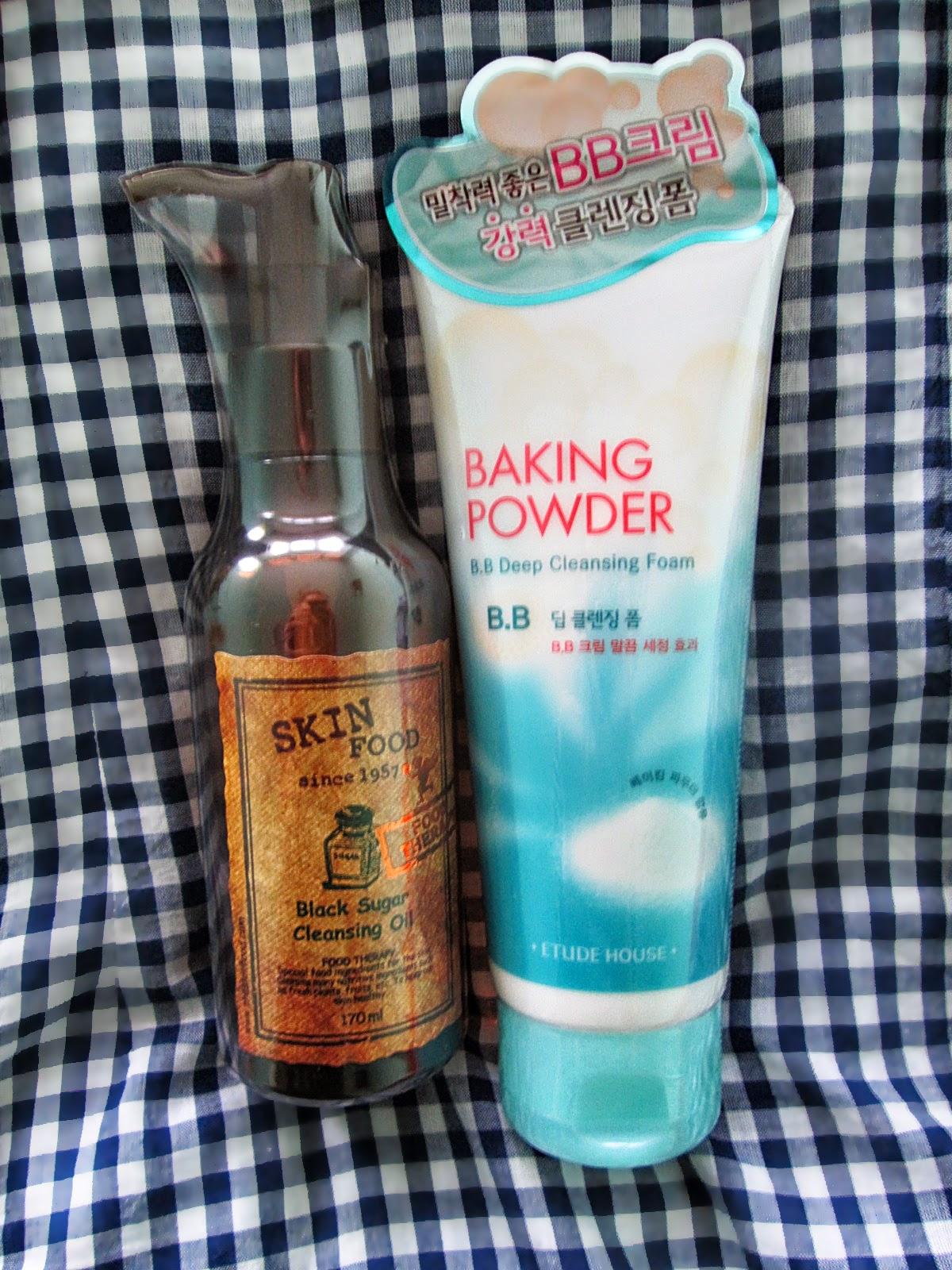 Etude House pianka baking powder, Skin Food olejek do mycia twarzy