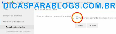 Autorizar Sites no Google Adsense