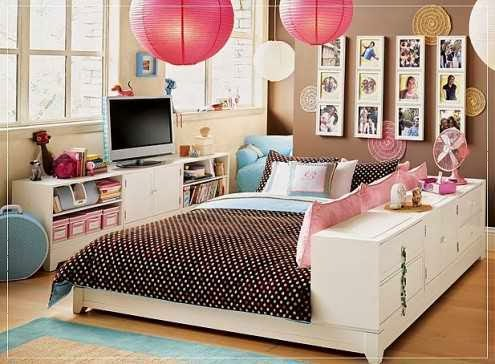 Cool Teenage Bedroom Schemes for Spacious Looks