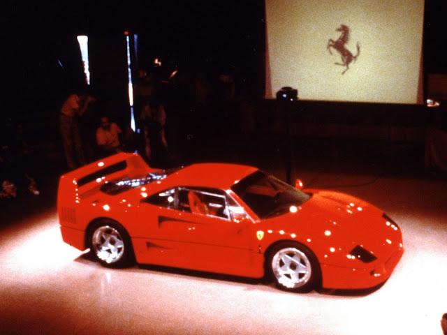 Ferrari F40 - apresentação oficial em Maranello - Julho de 1987