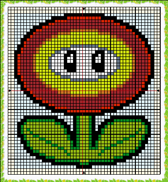 Mario Fire Flower Pattern