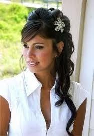 Audacieux Coiffure pour un mariage: Coiffure de mariage avec des cheveux YR-95