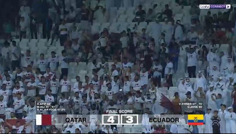 فيديو : قطر تفوز على الاكوادور برباعية فى المباراة الودية التى اقيمت بينهما