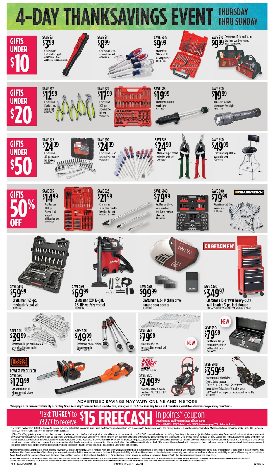 Sears Black Friday tools 2018 ad
