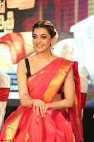 Kajal Aggarwal in Red Saree Sleeveless Black Blouse Choli at Santosham awards 2017 curtain raiser press meet 02.08.2017 043.JPG