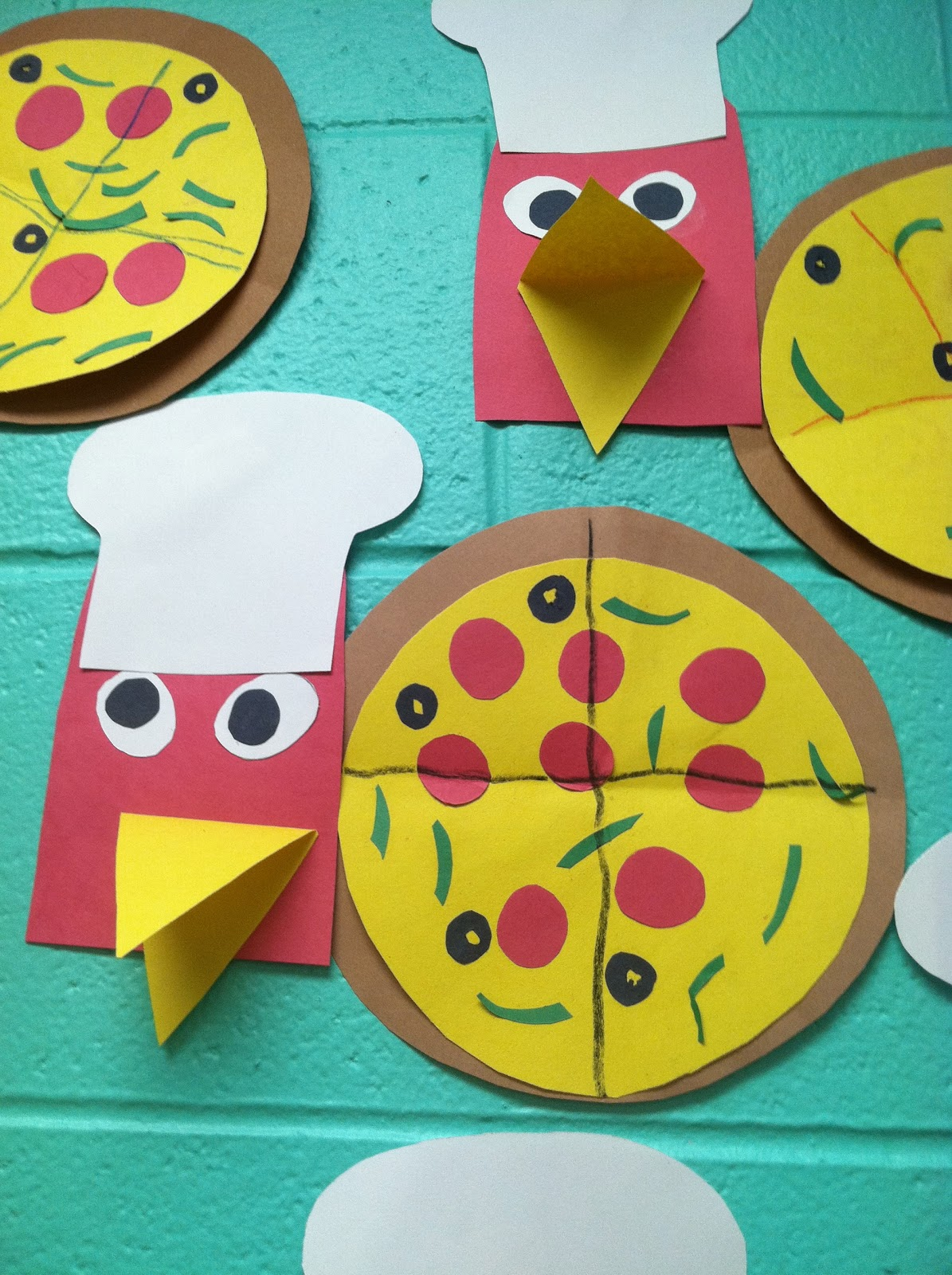 The Little Red Hen Makes A Pizza Craft