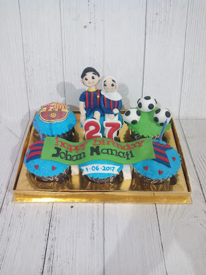 Cupcake Football Club Barcelona Romantis
