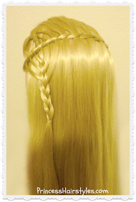 Cookie cutter waterfall braid video tutorial. Braiding instructions.