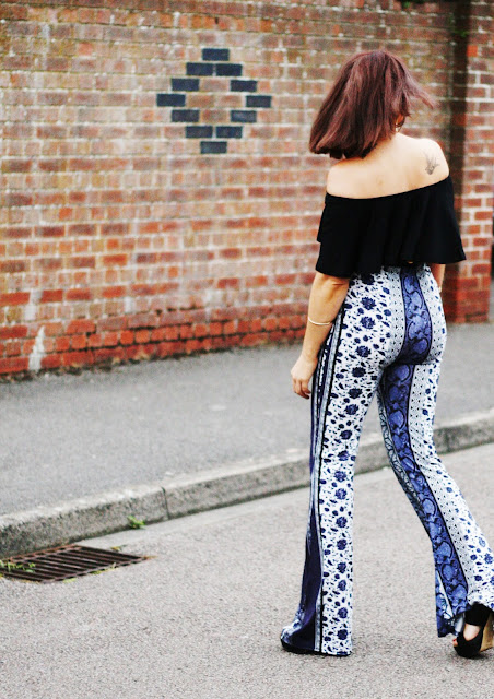 paisley flares from missguided
