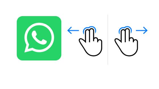 تطبيق واتساب يحصل على ميزة Swipe