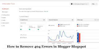 How to Remove 404 Wrongs in Blogger Blogspot