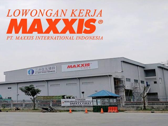 Lowongan Kerja PT Maxxis International Indonesia GIIC Cikarang bagian Operator Produksi (Lulusan SMA/SMK/Setara)