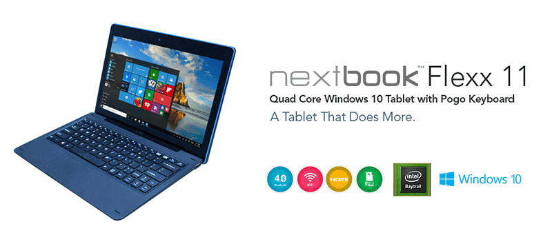 Nextbook Flexx 11 With 11.6 Inch Screen And 9000 mAh