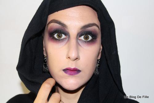 un blog de fille tuto vid o maquillage d 39 halloween vampire msc pourpre. Black Bedroom Furniture Sets. Home Design Ideas