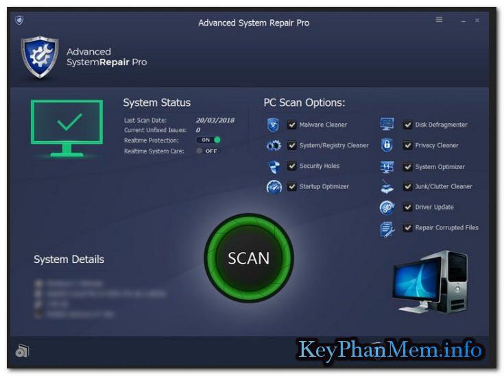 Advanced System Repair Pro 1.7.0.11.18.5.1 Full Key,Phần mềm sửa lỗi Windows dễ dàng