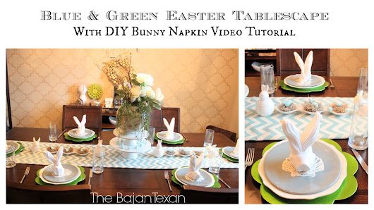 Easter Tablescape with Bunny Napkin Tutorial