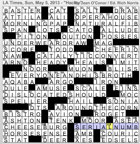 Latimes crossword corner jean oconor cc malvernweather Choice Image