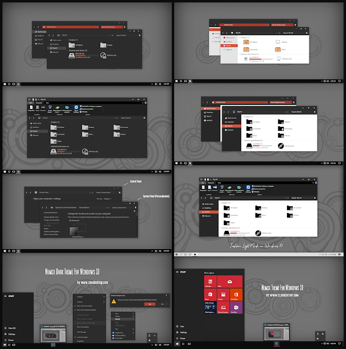Numix Dark And Light Theme For Windows 10