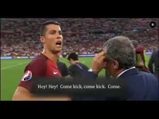 Fotografia de Cristiano Ronaldo no Euro 2016