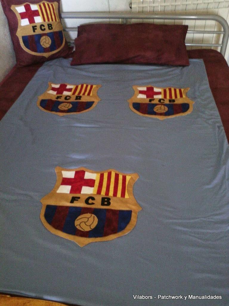 Colcha Futbol Club Barcelona - Patchwork Vilabors, Vilafranca del Penedès