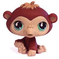 Littlest Pet Shop Pet Pairs Chimpanzee (#529) Pet