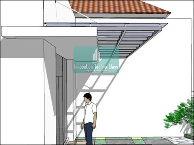 Design Kanopi Kaca Teras